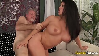 Horny old women enjoy their pussies getting fucked deep and hard in doggy style