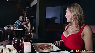 Disconsolate forty Tanya Tate drops on her knees up give head up a stranger