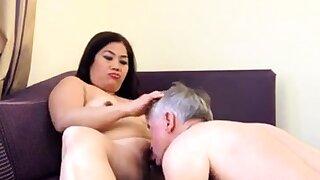 Lay Asian MILF riding face