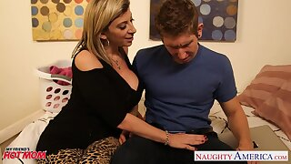 Sweltering flirty babe with big ass Sara Jay seduces man be incumbent on some doggy fuck