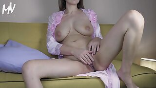 ♥ Marval - Hot Lactating Big Bosom Milf Play With Pussy And Got A Cumshot ♥