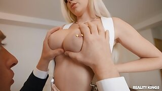 Hardcore gender in the reception room with pierced nipples Kendra Sunderland