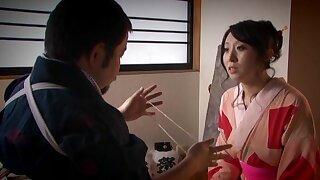 Wakako Yamada wearing socks moans while the brush cunt is being infringed