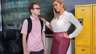 The nurse unethical seduced student for sex concerning the office...