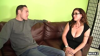 Voluptuous brunette is using say no relating to mammoth milk jugs relating to give a hard- on relating to a guy