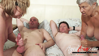 AgedLovE British Mature Group Sex coupled with Toying