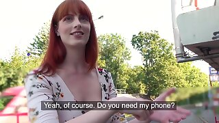 Public Agent Dirty Hot American Redhead Beauty Alex Harper