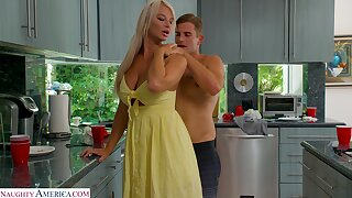 MILF stepmom transforms her stepson into her unheard-of sex slave
