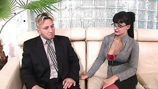 MILF alongside red lingerie, hardcore sex with hot affaire d'amour partner