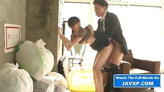 Japanese MILF Gets Fucked By Her Pervert Boss